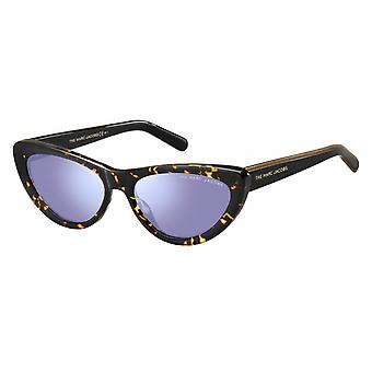 Sunglasses women butterfly gold/black glitter