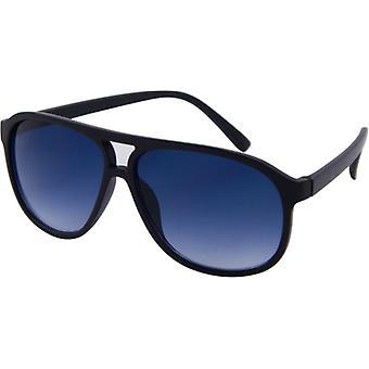 Okulary przeciwsłoneczne Unisex BASIC Kat. 3 matowe czarne/niebieskie (152-B)