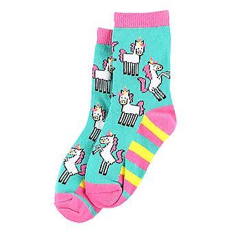 Lazy One Unicorn KSK327 Girl's Multicoloured Socks