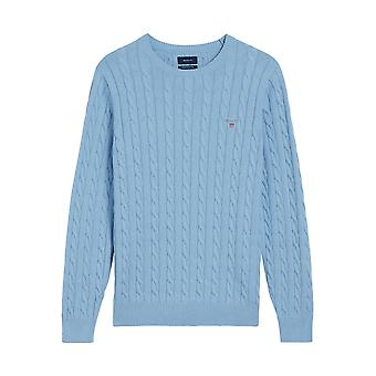 Gant Men's Cotton Cable Crew Sweater