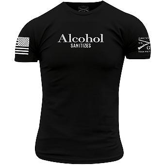 نخر نمط الكحول يطهر تي شيرت - أسود