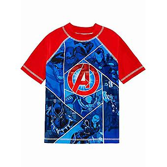 Avengers Superhero Boys Swim Trunks Maillots de bain (4, Rouge/Bleu)