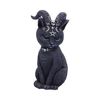 Nemesis agora - pawzuph - estatueta de gato oculto com chifres
