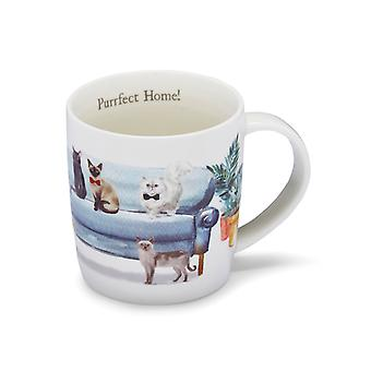 Cooksmart Curious Cats Purrfect Home Barrel Mug