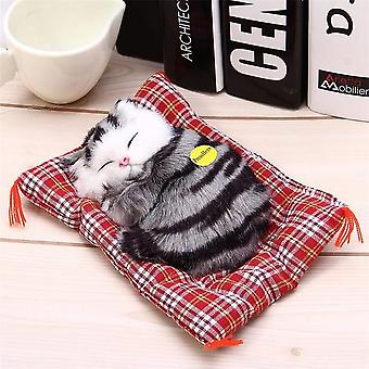 Simulation Animal Plush Toy- Cute Sleeping Kitten Models For Kids Home Crafts Decorations