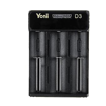 Portable DC 5V 2A 3 Slot USB Rechargeable Battery Charger For AA AAA Battery