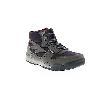 Hi-Tec Sierra Lite Mid  Womens Gray Suede Lace Up Hiking Boots