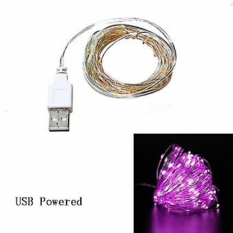 Copper Wire Led String Lights Christmas Decorations -garland Bottle Stopper For Glass Craft New Year Set 11