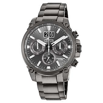 Lotus Men's Grey Stainless Steel Bracelet | Grey Chronograph Dial L10140/1 Watch