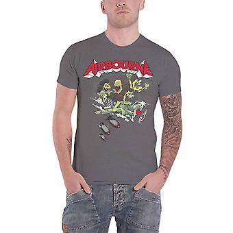 Airbourne T Shirt Nitro Band Logo new Official Mens Green