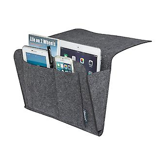 Felt bedside caddy multi pocket organiser by ibeani - slate grey