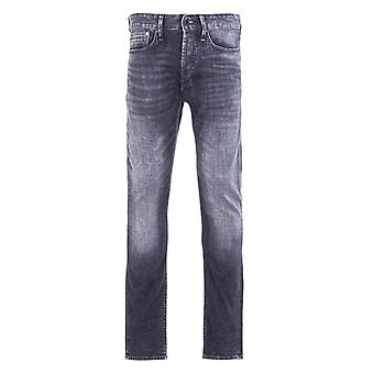 Denham Razor Left Hand Denim Washed Black Slim Fit Jeans