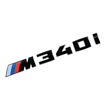 Gloss Black BMW M340i Letters Rear Boot Lid Trunk Badge Emblem For 3 Series E36 E46 E90 E91 E92 E93 F30 F31 F34 G20