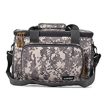 Toile de sac de pêche pour hommes, multifonctionnelle, pochette extérieure d'épaule de taille, bobine