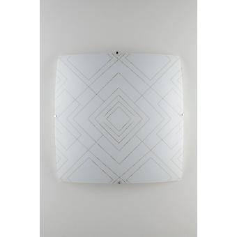 Fan Europe Vector - dekorative Flush Deckenleuchte, glänzend weißes Glas, E27