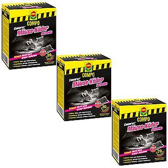 Sparset: 3 x COMPO Cumarax® mice-bait cereals, 200 g