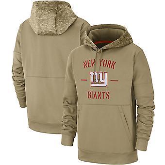 Men's New York Giants Slant Strike Tri-Blend Raglan Pullover Hoodie Top WYG043
