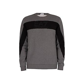 EA7 Emporio Armani Cotton Overhead Grey Sweatshirt