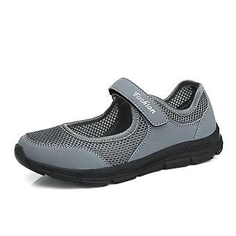 Zapatillas deportivas para mujer, zapatos de zapatillas transpirables de verano de malla