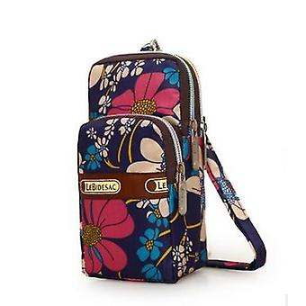 Multi-color Small Cross Body Coin Purse Shoulder Bag Oxford Cloth Cell Phone
