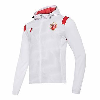 2020-2021 النجم الأحمر بلغراد معطف نشيد سترة (أبيض)