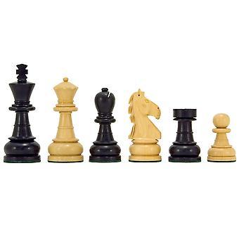 Serie Esmeralda ebanizada boj ajedrez piezas 3,25 pulgadas