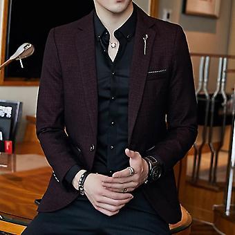 Striped Blazer Mens, Slim Fit, Business Casual Stylish, Spring, Autumn, Dot