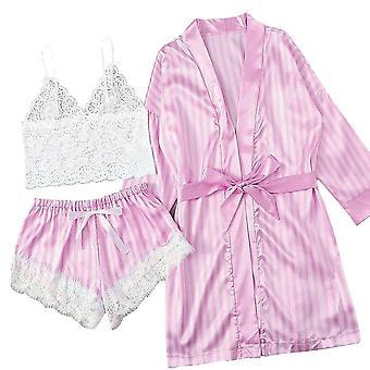 بيجامة طويلة الأكمام مثير الدانتيل الملابس الداخلية ملابس النوم
