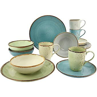 Creatable 1 x Nature Collection Dinner Ware Set, Stone, Multi-Colour