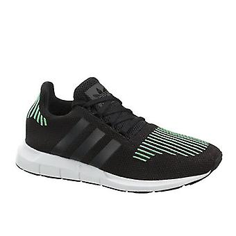 Adidas Originals Swift Run J Kids Juniors Lace Up Trainers Black CG4158 B6E