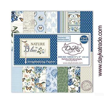 DayKa Trade Nature in Blue 8x8 Inch Paper Pack