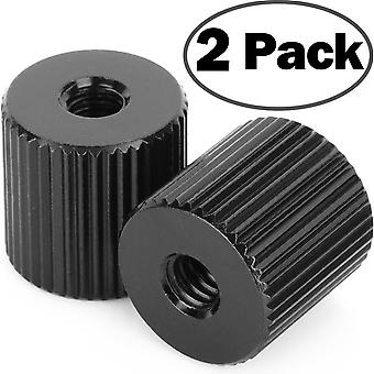 """2Pack chromlives tripod nut barrel nut connection nut with 1/4""""-20 thread hole for articulating magi"""