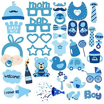 Luoem baby shower photo props baby bottle masks photobooth props it's a boy baby shower party photo