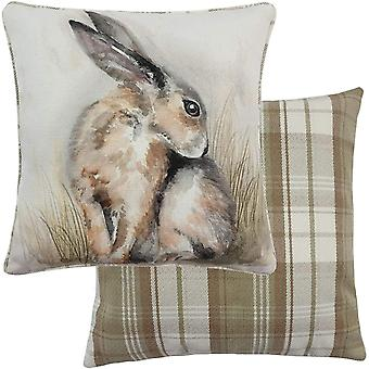 Evans Lichfield Watercolour Hare Cushion Cover