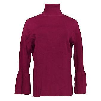 Joan Rivers Classics Collection Kvinder's Sweater Turtleneck Lilla A300366