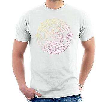 Miami Vice City Palm Tree Icon Men's T-Shirt