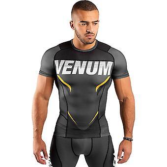 Venum One FC Impact Short Sleeve Rash Guard Grey/Yellow