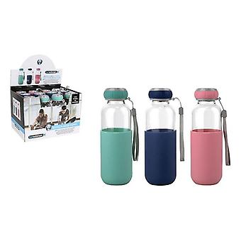 Water bottle Bewinner Glass Case Silicone (300 ml)