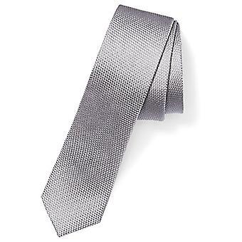 """BUTTONED DOWN Men's Classic Silk 2"""" Skinny, Zilveren Textuur, Maat Regulier"""