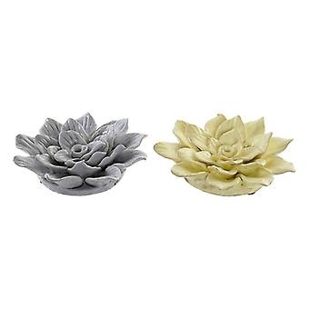 Wall Decoration Dekodonia Flower terracotta (2 pcs) (17 x 5 x 17 cm)