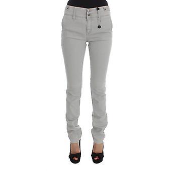 Costume National Gray Cotton Blend Super Slim Fit Jeans