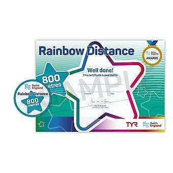 ASA Swim England Rainbow Distance Swimming Award - 800M