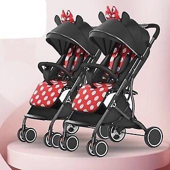 Twin Baby Strollers Ultra-light Portable, Folding Double Pram On Plane