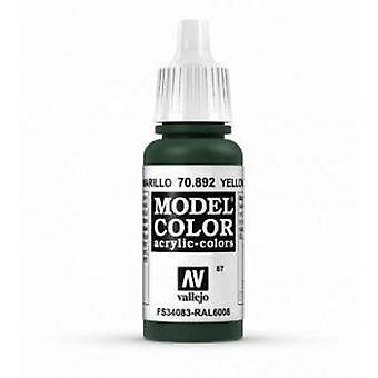 Vallejo Model Color 17ml Acrylic Paint - 892 Yellow Olive