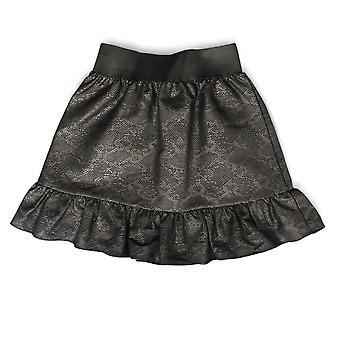 Black Python Skirt