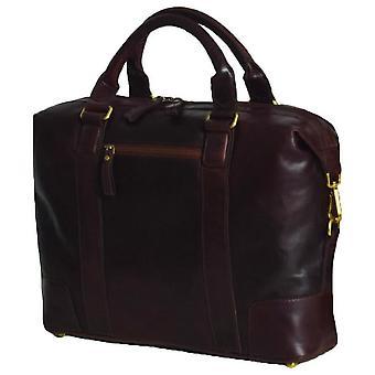 Ashwood nahka kannettava laukku - Brandy Brown
