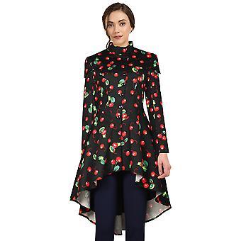 Chic Star viktorianischen Hoodie Jacke In schwarz/Kirsche