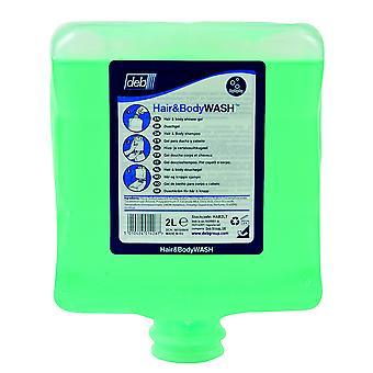 Deb HAB2LT Estesol Hair & Body Shower Gel 2l Cartridge for Dispenser