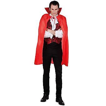 Rode mannelijke vampierkaap 120 cm Halloween