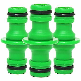 Gartenschlauch Fittings Schlauch 2 Schlauchstecker, grün, Packung mit 3
